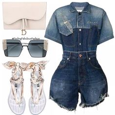 Really Cute Outfits, Casual Summer Outfits, Short Outfits, Stylish Outfits, Casual Ootd, Girls Black Jeans, Black Jeans Outfit, Black Denim, Denim Shorts Outfit Summer