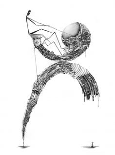 #127, Mani. Illustrative. Drawing. Hand drawn works look stunning framed and hung in the living room or bedroom.