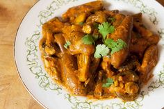 Eggplant and Mushroom Tikka Masala | Serve over Mahatma Basmati Rice to enjoy this delicious Indian-inspired meal.