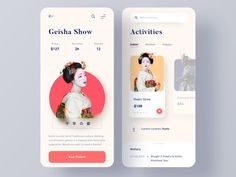 Activities & Tours Booking App by Pham Huy activities booking clean culture Web Design, App Ui Design, Mobile App Design, User Interface Design, Mobile Ui, Dashboard Design, Flat Design, Graphic Design, Travel Planner