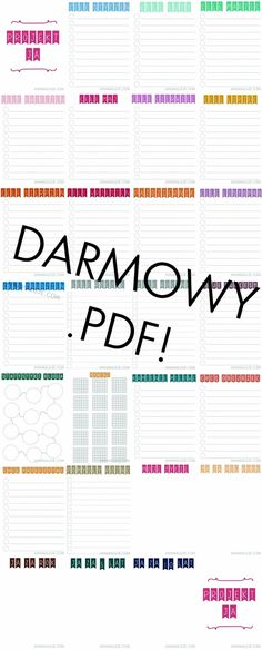 Darmowy planer, organizer do pobrania. Book Binding, Free Prints, Diy Projects To Try, Bujo, Diy And Crafts, Life Hacks, Techno, Bullet Journal, Writing