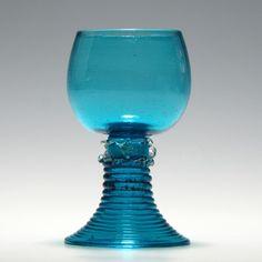 Rare 19th Century Turquoise Roemer Glass c1830