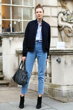 Joan Smalls, Leather Pants   Street Fashion   Street Peeper   Global Street Fashion and Street Style