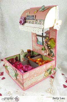 Sweet Chocolate Bar - Graphic 45 - Petaloo - Blog Hop - Children's Hour - Belly Lau - Papercraft Buffet - Tutorial