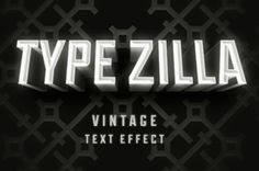 A vintage retro movie title styled text effect in photoshop. Type your own text thanks to the smart layers to replicate...