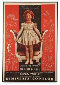 Love, Shirley Temple, Take Two: From Schoolgirl to Storybook: 411 Rumanian Language Poster of Shirley Temple