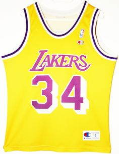 Champion NBA Basketball Los Angeles Lakers #34 Shaquille O'Neal Trikot / Jersey Size S - 69,90€ #nba #basketball #trikot #jersey #ebay #sport #fitness #fanartikel #merchandise #usa #america #fashion #mode #collectable #memorabilia #allbigeverything