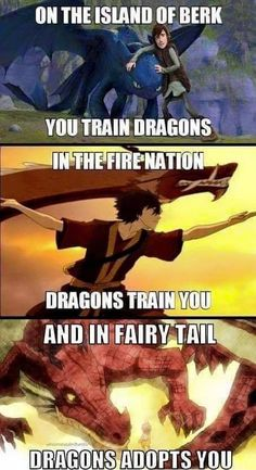 fairy tail avatar the last airbender how to train your dragon