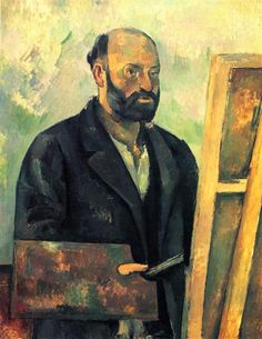 Self-Portrait with Palette, 1890 by Paul Cezanne, Mature period. Post-Impressionism. self-portrait. E.G. Bührle Foundation, Zürich, Switzerland