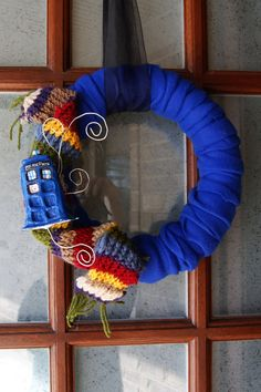Hey, I found this really awesome Etsy listing at https://www.etsy.com/listing/179207276/doctor-who-tardis-inspired-wreath