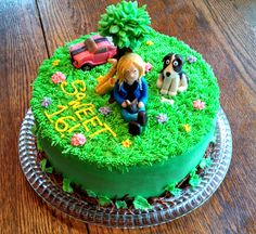 This is a Sweet 16 cake with a collection of the Birthday Girl's loves! A Hot Pink Mustang, because she loves horses and wants the car! Her Dog Jessie! Her Saxophone that she plays in Band. A Tree for her love of climbing trees! And of course her and her book! All Buttercream and candy clay accents. All edible! https://www.facebook.com/angelas.cakes2011