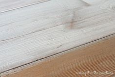 whitewash wood pottery barn table makeover, painted furniture