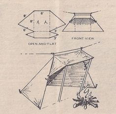 Whelen lean-to (Nylon) | Tents | Beckel Canvas Products