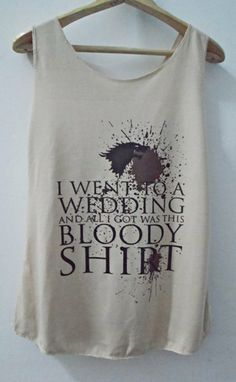 Game of Thrones Bloody Shirt Vintage Tank top by vintageartshirt, $15.00