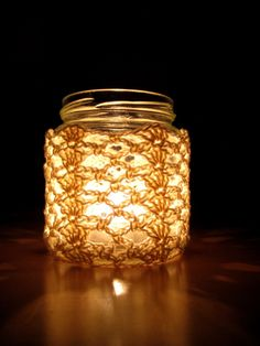 I designed this lacy pattern to let out plenty of light as the candle burns down, and cast pretty shadows around. If you want to make your own candles, as I did, see my previous post! Look out for…