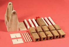 Work with ben to make a Kubb set.  Bore holes in targets to allow for batons to stack for efficient storage.