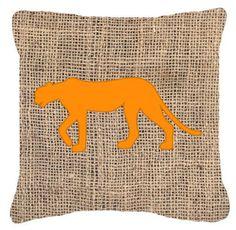Leopard Burlap Indoor/Outdoor Throw Pillow