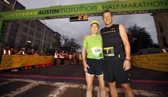 The amazing Joan Benoit Samuelson with Lance before the 2011 #LIVESTRONG Austin Marathon #cancer