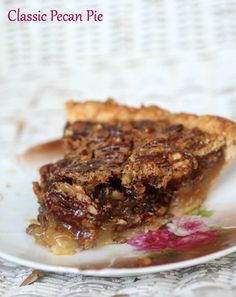 This classic pecan pie is sweet and full of pecans - just like grandma ...