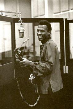 Magic Sam at Chess Records Studios in Chicago; ca. 1968...
