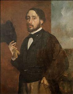 Self portrait or Degas Saluant, Edgar Degas.jpg