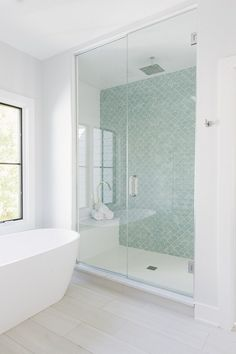 Hexagon White Matte Shower tile Cheap timeless and it goes with any other type o., Hexagon White Matte Shower tile Cheap timeless and it goes with any other type of tile Hexagon White Matte floor tile Bathroom Renos, Bathroom Flooring, Bathroom Renovations, Bathroom Tubs, Bathroom Showers, Green Bathroom Tiles, Shower Over Bath, Wood Floor Bathroom, Green Tiles