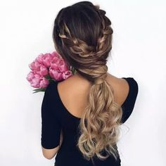 Immagine di hair, flowers, and girl