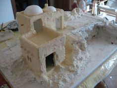 making accessories for christmas villages Christmas Village Display, Christmas Nativity Scene, Christmas Villages, Christmas Time, Christmas Crafts, Christmas Decorations, Xmas, Foam Crafts, Diy And Crafts