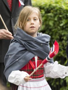 Leah Isadora second daughter of Princess Martha Louise and Ari Behn takes part in a parade in Southwark Park as she celebrates 2013 Norway National Day in London, England.