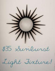 $35 Sunburst Light Fixture: My Old Kentucky House Blog