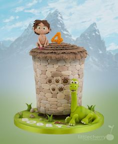 The Good Dinosaur - Cake by Little Cherry - For all your cake decorating supplies, please visit craftcompany.co.uk