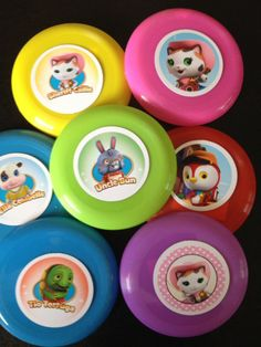 10 Sheriff Callie's Wild West Mini Flying Disks Frisbee Birthday Party Favors