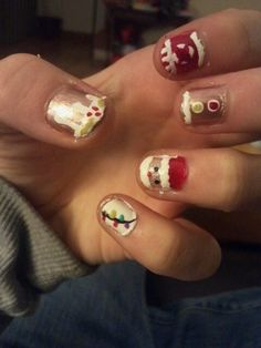 Just did my nails love them design creds to cutepolish she is amazing and has so many cute designs <3