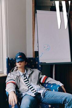 Chanyeol - 190321 W Korea Magazine, April 2019 issue Exo Chanyeol, Kyungsoo, Kris Wu, Woozi, W Korea, Kim Minseok, Tommy Boy, Korean Star, Exo Members