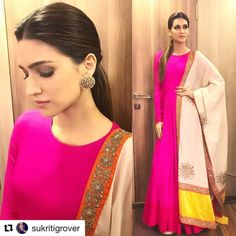 Think Pink !! In @vasavithelabel Earrings @satyanifinejewels Styled by @sukritigrover @style.cell Hair @aasifahmedofficial Make