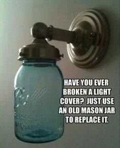 Cool Products & Ideas Facebook Post Use a mason jar as a light cover