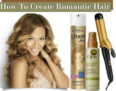 How To Create Romantic Hair in 3 Easy Steps - This #hair tutorial shows how to get soft spiral curls using a curling iron.