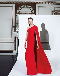 Jill Jill Stuart One-Shoulder Crepe Gown, Persimmon