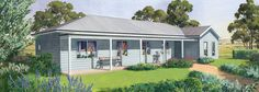 The Shoalhaven Facade - Steel Frame Kit Home by PAAL Kit Homes - Paal Kit Homes offer easy to build steel frame kit homes for the owner builder and have display / sale centres in Sydney NSW, Melbourne VIC, Brisbane QLD, Townsville NTH QLD, Perth WA.