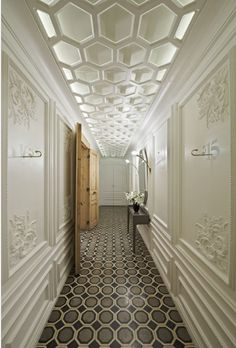 Autoban Design with honeycombed dropped ceiling for lighting effect...