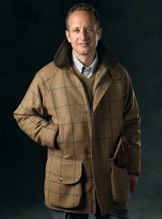 Wool Field Coat in Autumn with Windowpane