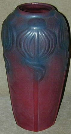 Van Briggle Art Pottery vase, 1920's. Nice colors.