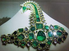 Emerald turban pin belonging to the Nizam of Hyderabad
