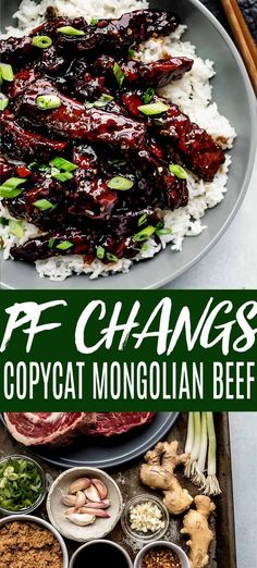 This recipe for easy Mongolian Beef makes it simple to make your favorite takeout dish at home. It's a recipe that tastes just like PF Changs! // crispy // stir fry // sauce // authentic You are in th Mongolian Beef Recipe Pf Changs, Easy Mongolian Beef, Mongolian Beef Recipes, Mongolian Lamb Recipe, Meat Recipes, Asian Recipes, Dinner Recipes, Cooking Recipes, Japanese Recipes