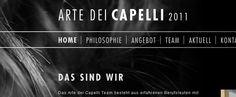"""Einfacher styliger Internetauftritt für den Hairstylisten """"Art dei Capelli"""" in St. Gallen. Realisierung mit dem Content-Management-System MODx. Für das Konzept, das Design und die Realisierung waren wir zuständig.  http://www.arte-dei-capelli.ch/"""
