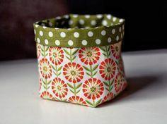 Tutoriale DIY: Cómo hacer un mini cesto de tela vía DaWanda.com