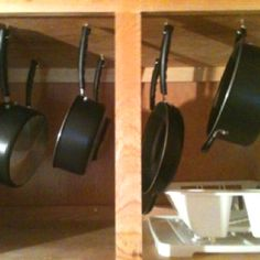 Thanks for the idea on organizing pots  pans! No more over loaded drawers! And, the dish older holds the lids!! :))
