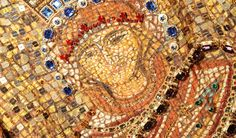 Dolce Fall WInter 2014 Mosaics Collection - Saint Agatha mosaic print with crystal embellishments