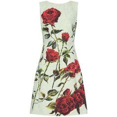 Дольче & Габбана цветочно-жаккард кроссовер-обратно платье