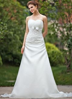 A-Line/Princess Sweetheart Cathedral Train Organza Wedding Dress With Ruffle Lace Beading Bow(s) (002001295) http://www.dressdepot.com/A-Line-Princess-Sweetheart-Cathedral-Train-Organza-Wedding-Dress-With-Ruffle-Lace-Beading-Bow-S-002001295-g1295 Wedding Dress Wedding Dresses #WeddingDress #WeddingDresses